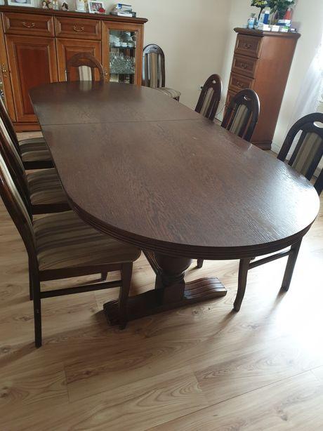 Stół rozkładany 245/310cm x 102cm brązowy