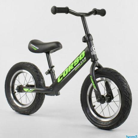 """Велобег стальная рама, колесо 12"""" надувные колёса Беговел"""