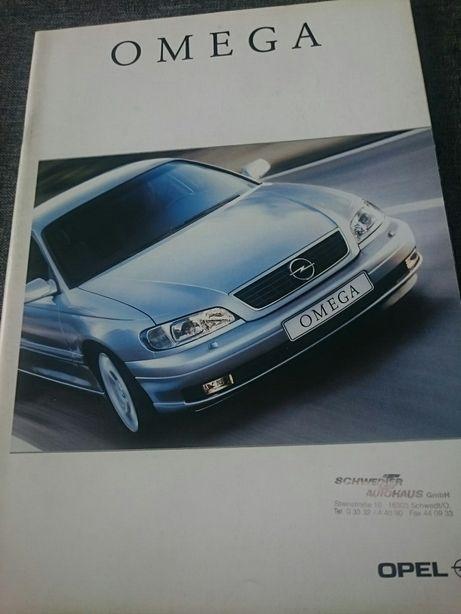 Opel Omega katalog,  prospekt.