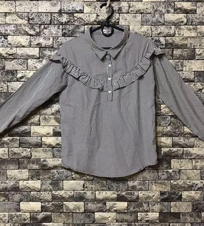 Сорочка рубашка блуза полоска чорно біла qwe
