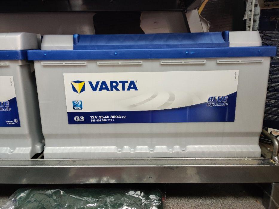 Akumulator Varta Blue Dynamic G3 12V 95Ah 800A P+ Kraków Dowóz Montaż Kraków - image 1