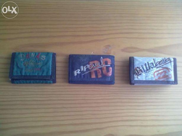 Lote e carteiras de marca novas, billabong, rip curl
