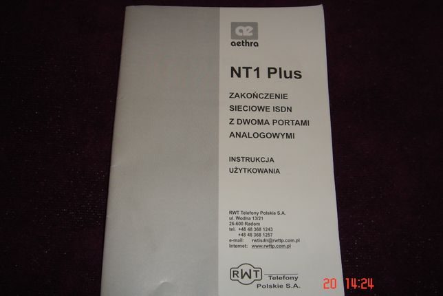 Instrukcja użytkownika NT1 Plus - - Telefony Polskie SA