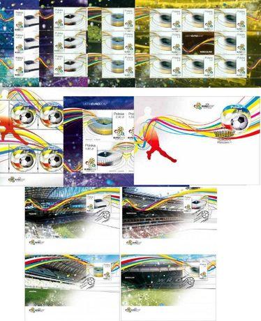 UEFA EURO 2012- Arkusiki ,blok ,FDC - KOMPLET