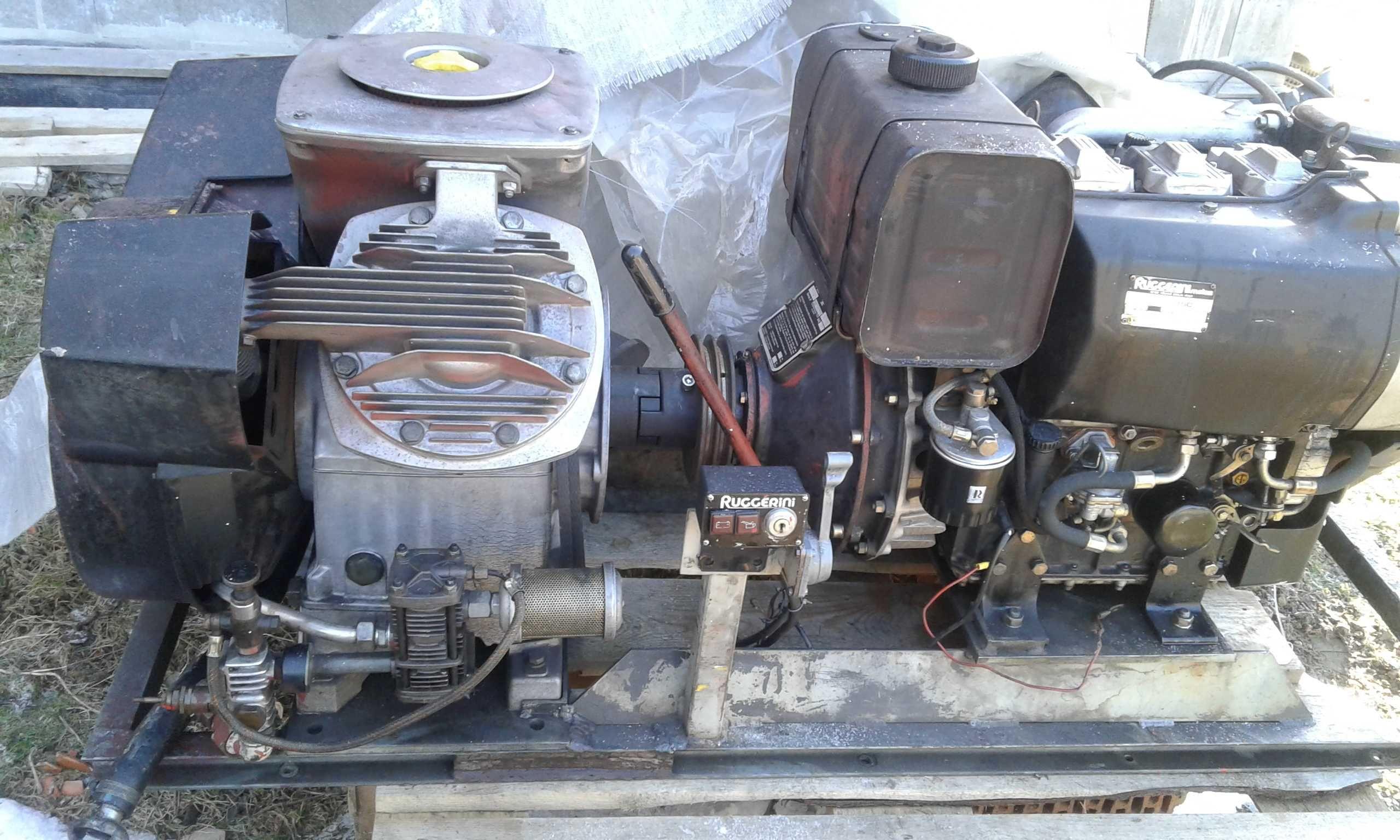 Atlas Copco kompresor napędzany Silnikiem RUGGERINI DIESEL