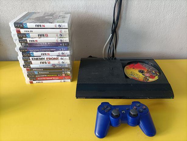 PS3 Super Slim 500GB PS Move Gry Okazja