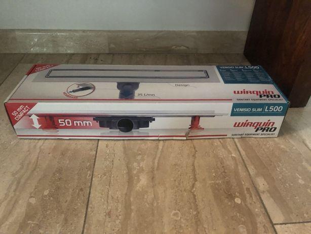 Odpływ liniowy prysznicowy Venisio Slim 500mm nowy (zakup za 600)