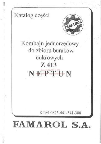 Katalog części Kombajn ziemniaczany Neptun Z 413