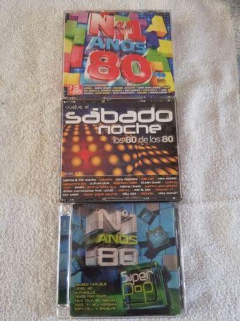 Cds, várias coletâneas anos 80