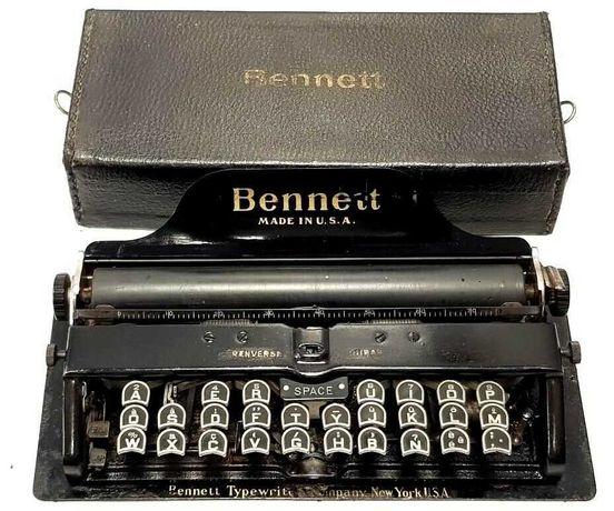 Máquina de escrever Bennett Typewriter de 1909
