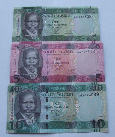 Banknoty SUDAN POŁUDNIOWY - Z PACZKI BANKOWEJ - Zestaw Kolekcjonerski