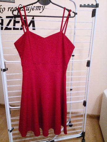 Czerwona sukienka Szachownica Rozmiar M