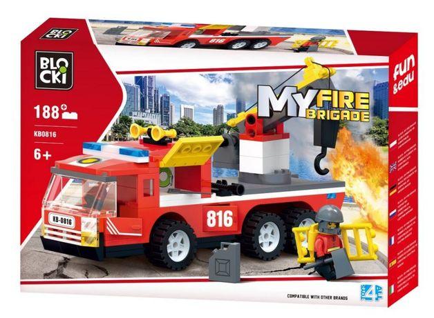 Klocki Blocki MyFire Wóz strażacki z podnośnikiem