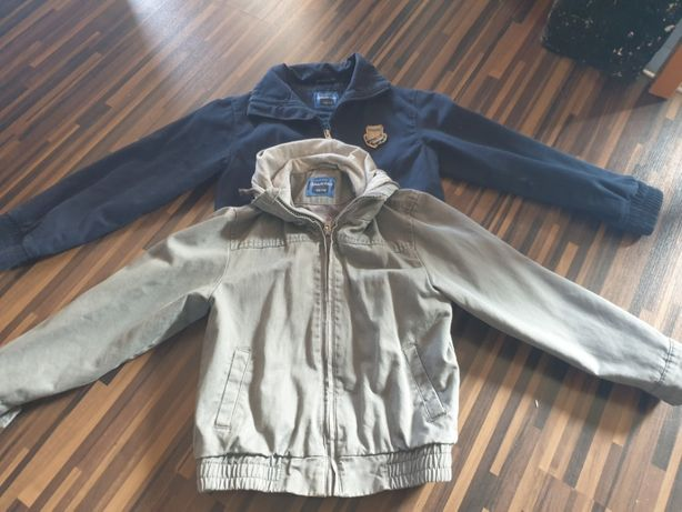 2 kurtki jesienne 110/116 chłopięce materiałowe dla chłopca