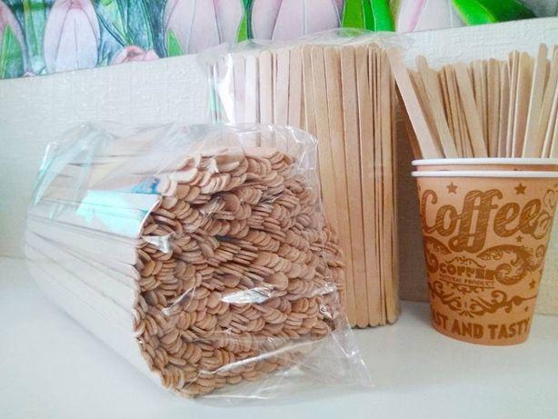 Мешалка(бук)/палочка деревянная для кофе(Мішалка для кави та чаю)