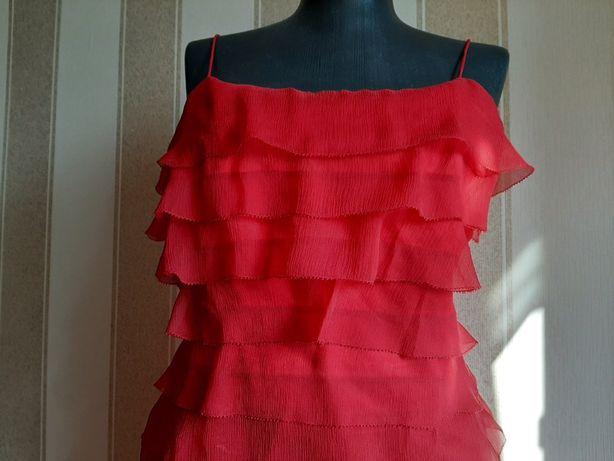Платье в пол, длинное, макси, нарядное. Натуральный шелк.