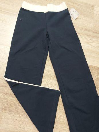 Spodnie dresowe 128 nowe granatowe dziewczyna