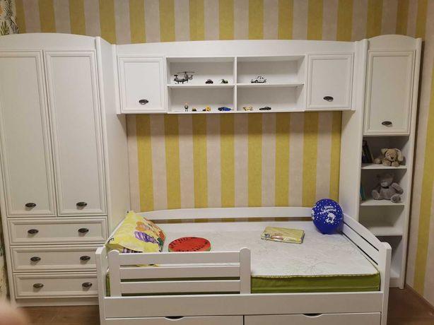 Детская мебель комната: кровать, шкаф, пенал, полка Сборка бесплатно!