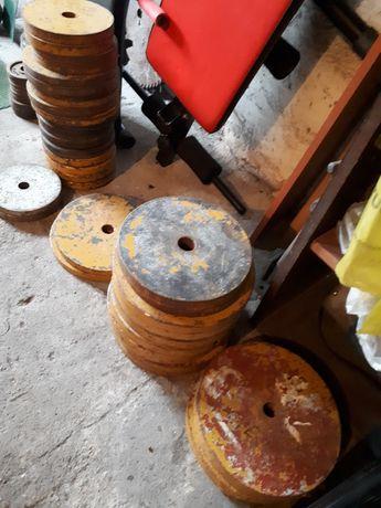Obciążenie stalowe 2x8kg 2x4kg 2x1kg