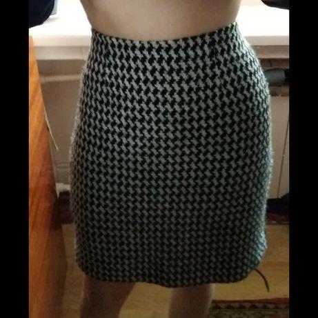 Продам юбку чёрно белую