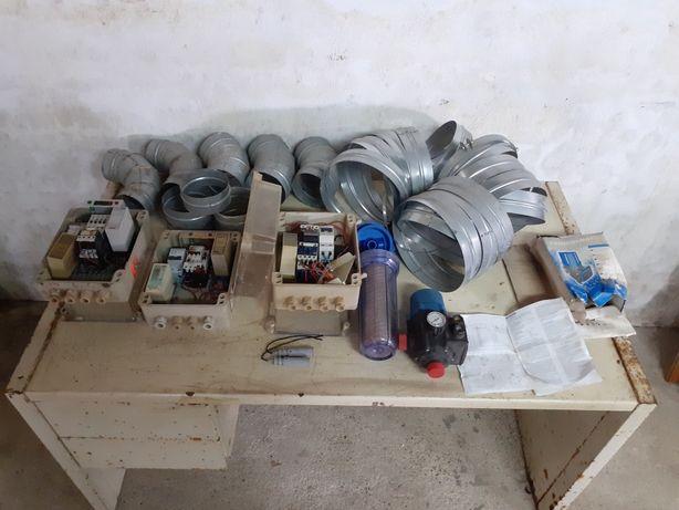 Tubos de ventilação,quadro de sondas e sondas