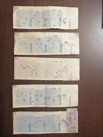 Kupony Kolekcjonerskie 5 szt. Zakłady Specjalne 1983 rok