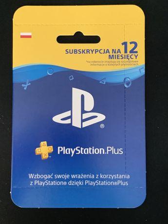 Playstation plus PS plus Subskrypcja 12 miesięcy