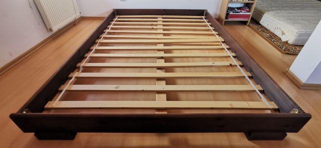 Łóżko Drewniane / Materac Ikea DreamZone Gold S5