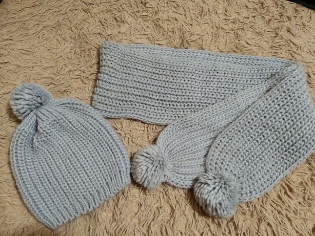 Шапка + шарф комплект/набор