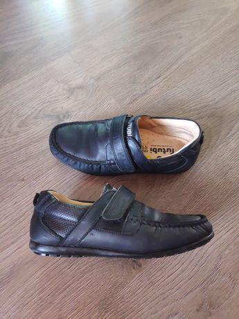 Туфли черные кожаные ортопедические Tutubi размер 33 стелька 21 см