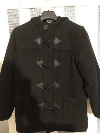 Шикарное шерстяное детское пальто 9-10лет