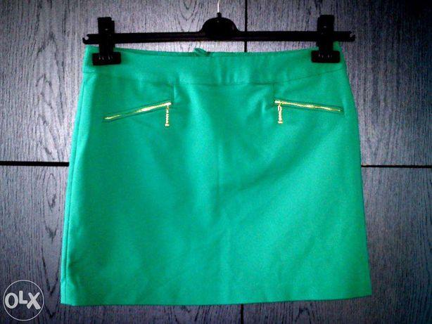 NOWA H&M zielona spódniczka mini