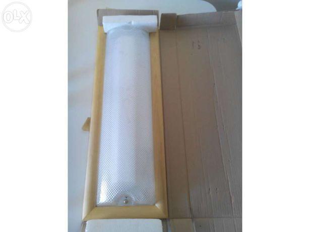 Armadura tecto 2x18w madeira