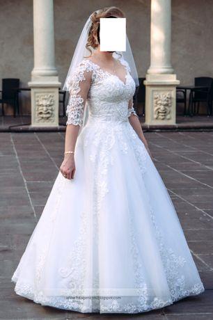 Koronkowa suknie ślubna typu Princess rozm 38