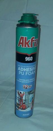 Полиуретановая клей-пена для пенополистирола Akfix 960