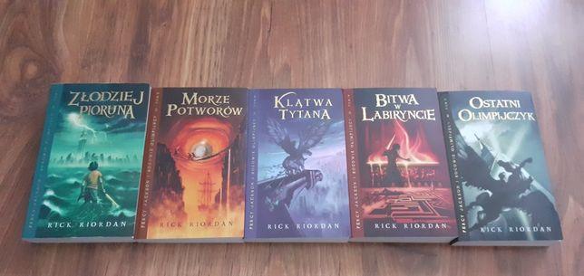 Książki Percy Jackson 1-5