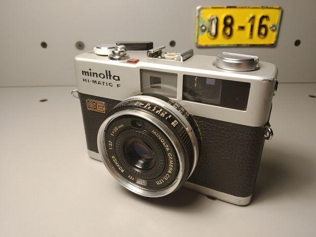 Aparat Minolta Hi matic F kompakt dalmierz analogowy 100% sprawny