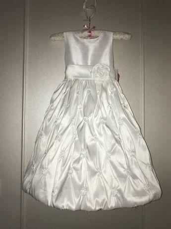 Удлиненное пышное платье для выпускного 5-7 лет. Cinderella USA