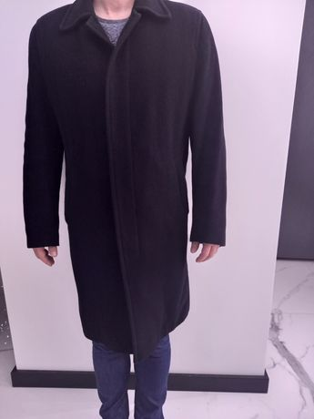 Długi płaszcz męski jesienno-zimowy