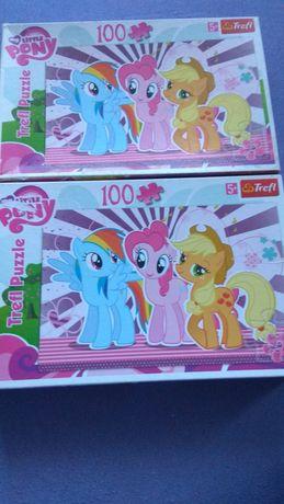 Puzzle pony 5+, 2 pudełka po 100 elementów