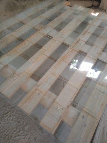 Vidro rectangular jateado / decapado- uso para janela ,mesa ...