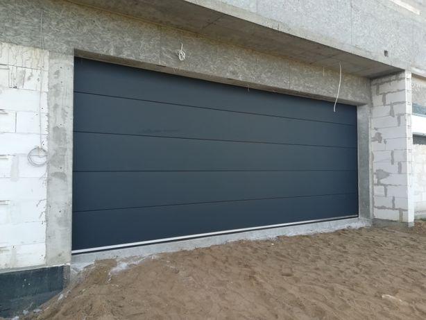 brama garażowa segmentowa OD RĘKI 5000x2000 antracyt 3999zł