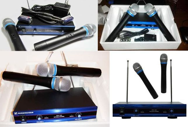 Радиомикрофон микрофон UKS 200XL.Радиосистема+2 беспроводных микрофона