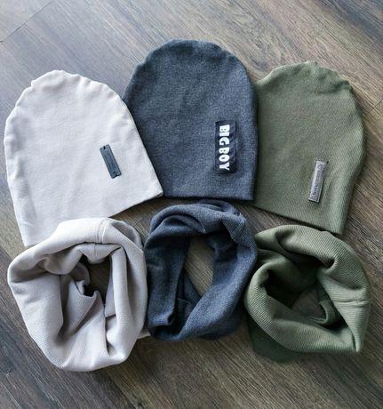 Komplet Czapka/turban plus komin/chusta