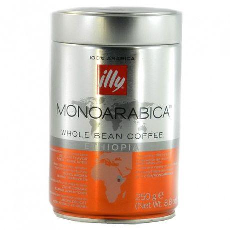 Кава в зернах Illy Monoarabica Ethiopia 100% арабіка 250 г (ж/б)