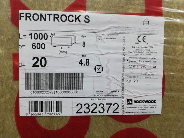 ROCKWOOL Frontrock S - wełna mineralna, twarda, płyta, gr. 20 mm,