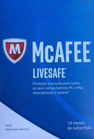 Anti virus Mcafee live safe