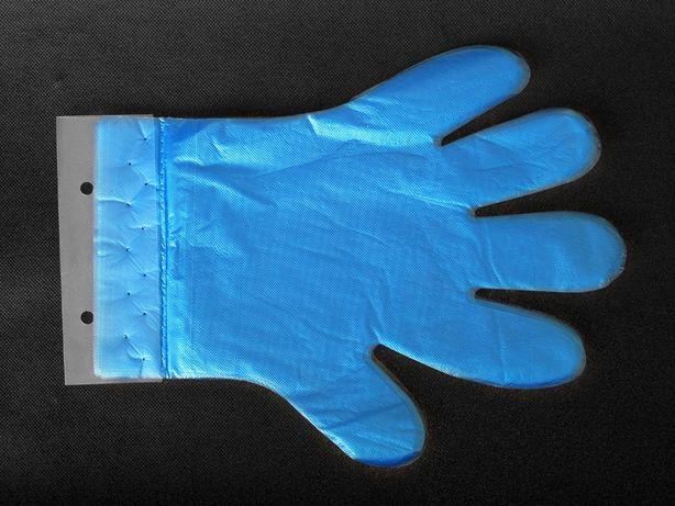 Rękawiczki foliowe HDPE zrywki HURT - dostępne od ręki Warszawa