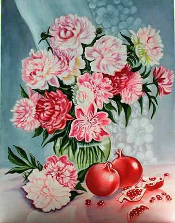 Картина маслом Ваза с цветами