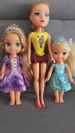 Trzy śliczne lalki w tym Kopciuszek i Roszpunka